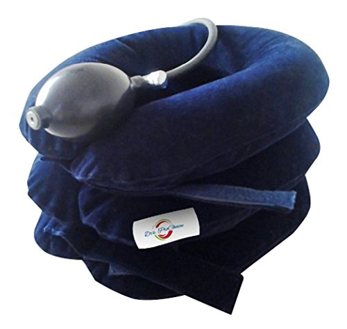 Drs ProChoice Newest Cervical Neck Traction Collar Device, FDA Registered, Sleep Better. Quickly Relieves Pinched Nerves, Neck and Shoulder Pain, Adjustable Inflatable Pillow. (Inflatable Premier)