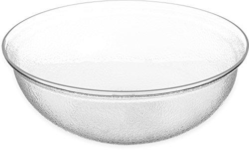Carlisle High Gloss - Carlisle SB7807 BPA-Free Round Pebbled Fruit Serving Bowl, 15 Quart, Clear (Pack of 4)