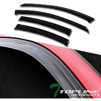 Topline Autopart Sun/Rain/Wind Guard Smoke Tint Shade...