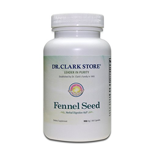 Dr Clark Store Fennel Seed, 550 MG, 100 Capsules