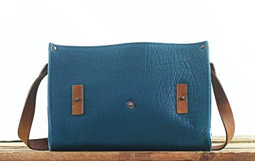 fleur pleine L'INDISPENSABLE Piscine sacoche MARIUS buffle Sac vintage de Bleu cuir bandoulière PAUL style en r8wrqz5Rx