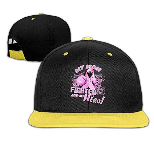 DH-MS Dress My Mom is A Fighter and My Hero Hip-Hop Cap Baseball Hat Boys and Girls -