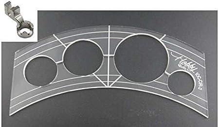 Sew-Link - Regla de 5 mm de acrílico, diseño de patchwork, para ...