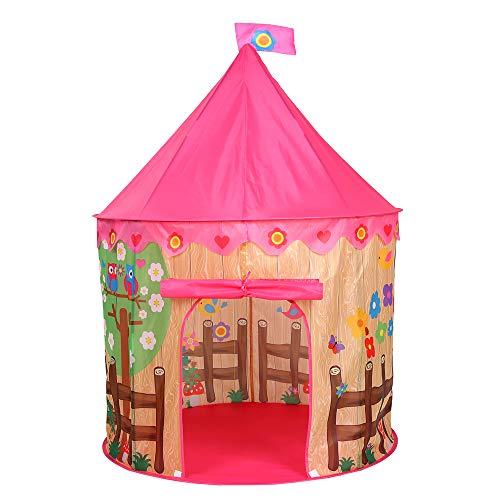 ROOKLY Tienda De Juegos para Niños Castle Princesa De Juguete De Impresión Casa Plegable Regalo De Cumpleaños para Los...