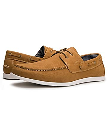 b9b5c6e6e GLOBALWIN Mens Casual Loafers Lace Up Classic Driving Boat Shoes