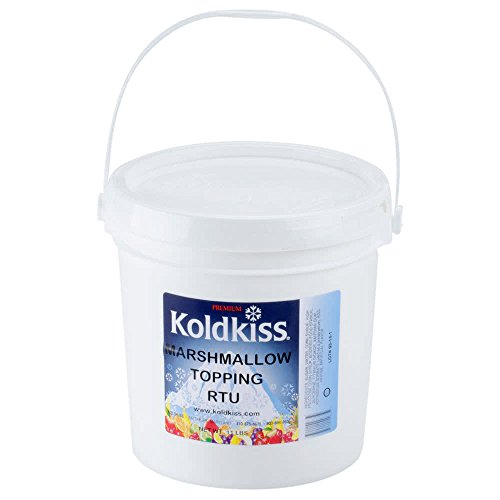 Koldkiss Marshmallow Ready to Use Snowball Topping - 11 lb. Pail By TableTop King