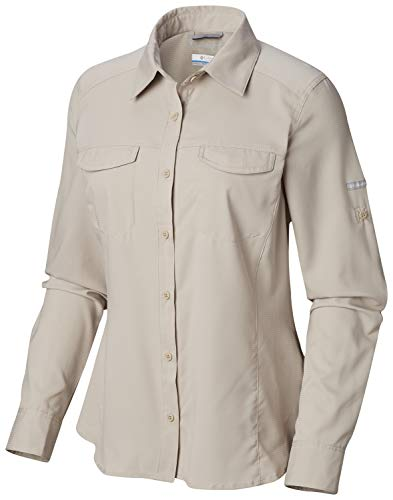 Columbia Women's Silver Ridge Lite Long Sleeve Shirt, Fossil, Large