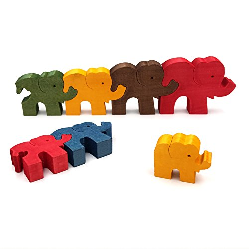 Wooden Colorful Puzzle Jigsaw Toy - 6