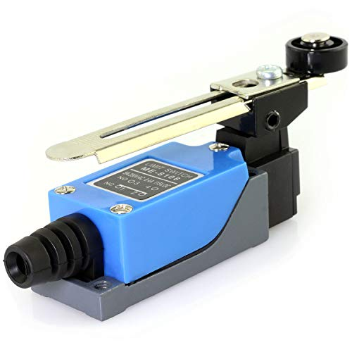 E-outstanding 1PC ME-8108 Momentary Rotary Adjustable Roller Lever Arm Micro Limit Switch for CNC Mill Laser Plasma 5A - Roller Laser