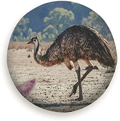 HOBY Collage Animals Living Australia Emu Koala Funny Spare Tire Cover, Waterproof Dust-Proof Thicken Wheel Protectors Covers Fit 14-17 inches
