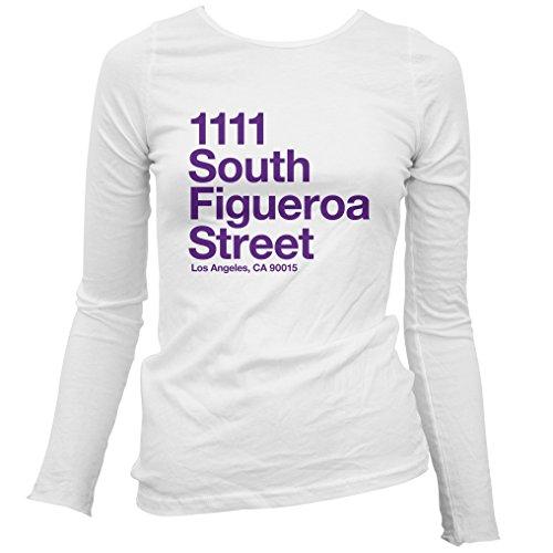 Smash Vintage Women's Los Angeles Basketball Stadium Long Sleeve T-Shirt - White, - Santa Monica Women's Center