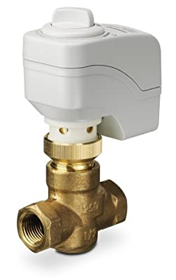 Siemens 254-01100 Zone Control Valve Assembly ANSI 250, 2-Way Normally Closed, Linear, 1/2-Inch Female NPT Connections, 0.4 Cv, 200N, Electro-Mechanical from Siemens HVAC