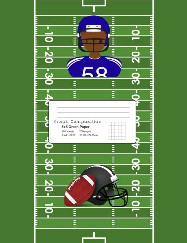 Search : Graph Composition: African American Football Player/Sports Theme Graph Composition Book 5 x 5 ruled 7.44 x 9.69, 100 sheets, 200 pages, book for ... Composition Notebooks: 5 x 5 Ruled) Volume 6