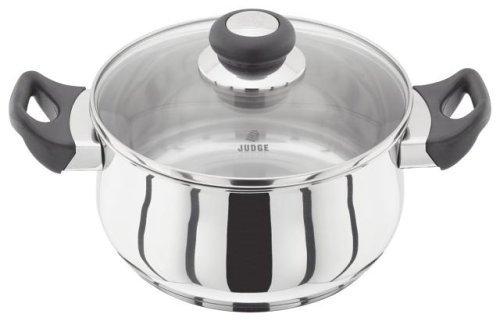 Judge JJ37 Casserole, Silver, 24 cm, 4.3 Litre Horwood Homewares Casseroles & Stewpots Cookware Vista
