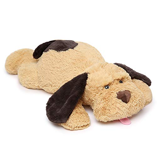 MaoGoLan Giant Stuffed Puppy Dog Big Plush Extra Large Stuffed Animals Soft Plush Dog Pillow Big Plush Toy for Girls Kids 31 - Plush Girl Toy
