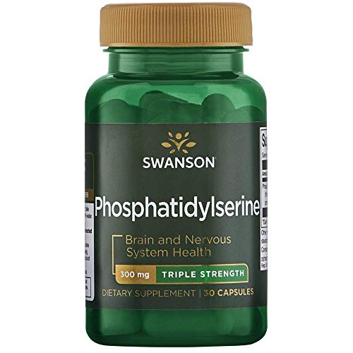 Swanson Phosphatidylserine Memory Brain and Cognitive Health Support Phospholipid Triple-Strength Complex Supplement 300 mg 30 - Ultra Swanson