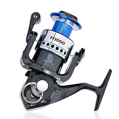 Lumeng Fishing Reel Rotating Fishing Reel Left/Right Interchangeable Metal Body Smooth for Offshore Boat Rock Freshwater Seawater (Color : Black, Size : -