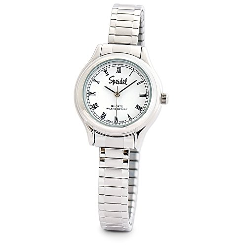 Face Watch Expansion Band (Speidel Ladies Expansion Collection Watch with Roman Numeral Numbers in Silver Tone)
