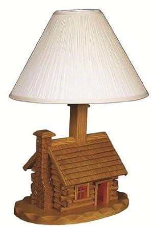 Amish log cabin lamp with shade amazon amish log cabin lamp with shade aloadofball Choice Image