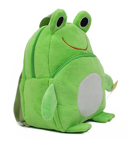 - Kaden G-P New top qualtiy baby school bags children character design backpack girls and boys lovely plush toy school bags /Little Kid cute Pack Backpack cartoon pupil school bags (23x21cm, Frog green)