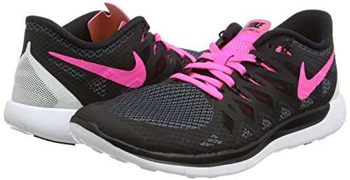 Nike Womens Free 5.0 Scarpe Nere / Bianche / Rosa Taglia 8.5