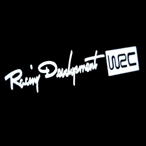 Kingzer 4pcs WRC Pomo de puerta de coche Adhesivo Pomo de inicio etiquetas Emblema reflectante blanco: Amazon.es: Coche y moto