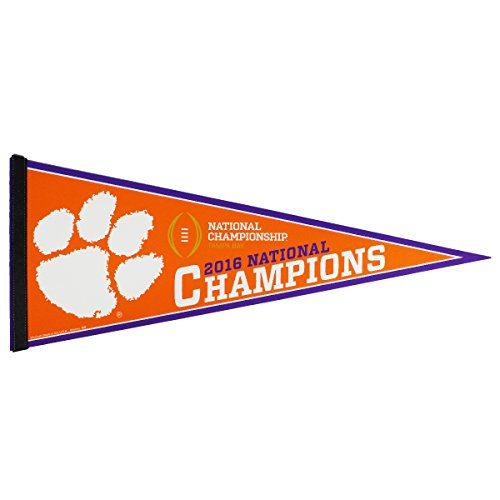 Clemson Tigers 2016 National Champions (National Champions Pennant)