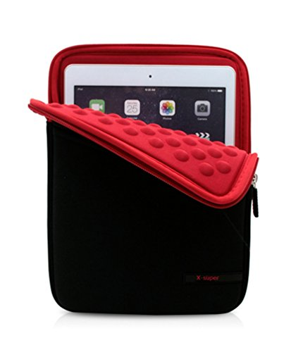 X-super 2017 Version iPad Pro 10.5 Sleeve Pouch Shockproof Neoprene Cover Case with Accessory Pockets (Red)