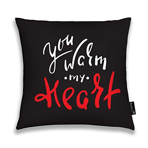 Randell Throw Pillow Covers You Warm Heart Emotional Love Quote Home Decorative Throw Pillowcases Couch Cases 16