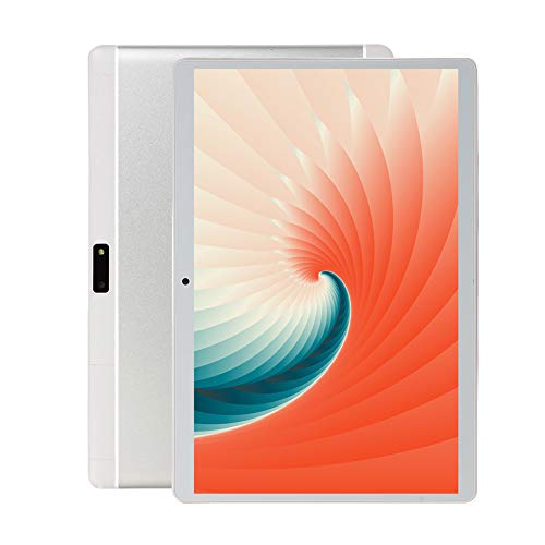 Chenen 10 inch Android Tablet PC,5G Wi-Fi,4GB RAM,64GB Storage, Eight-Core Processor, IPS HD Display,3G Phablet with Dual Sim Card Slots,Bluetooth,GPS, Android Tablets for Kids 1 (Silver)