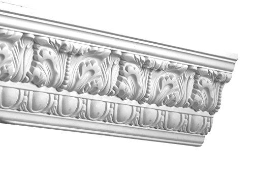 Designer's Edge Millwork DEM-155 Egg and Dart Acanthus Crown Moulding 4-1/2