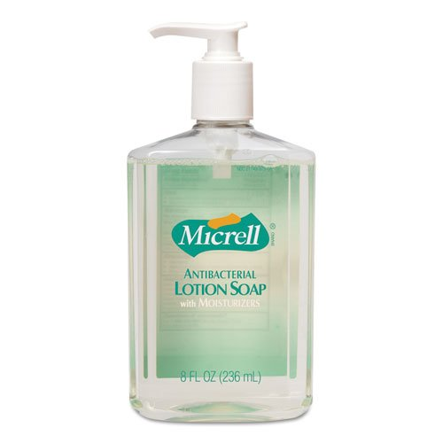 GOJO : MICRELL Antibacterial Lotion Soap, Light Scent, Liquid, 8 ounces Pump -:- Sold as 2 Packs of - 1 - / - Total of 2 each