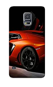 New MByIz0IOaMh Lamborghini Aventador Tpu Cover Case For Galaxy S5 - Best Gift Choice For Christmas