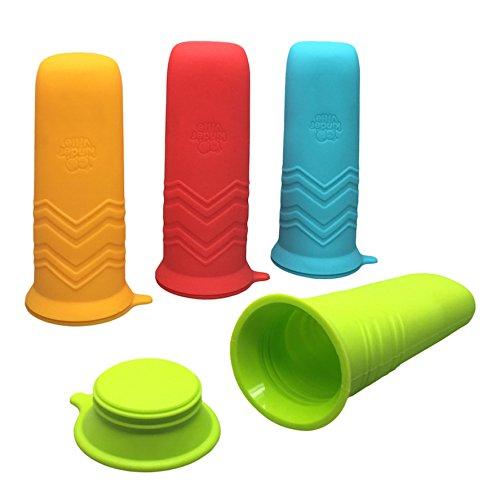 Kinderville Little Bites Ice Pop Molds, Blue/Orange/Red/Green