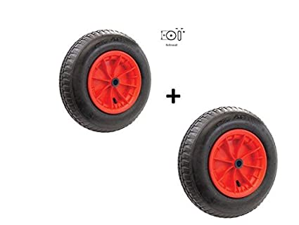 MS-Warenvertrieb - Ruedas neumáticas con rodamientos para carritos, carretillas, etc. (