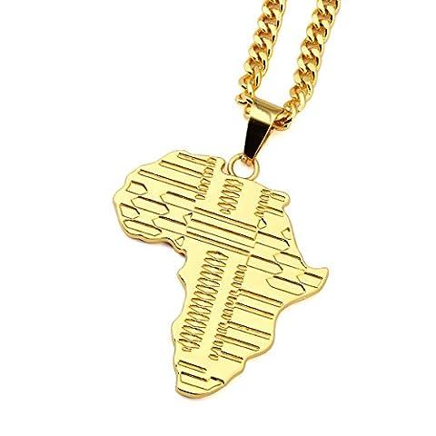 NYUK Men's Jewelry 18k Gold Plated Chain