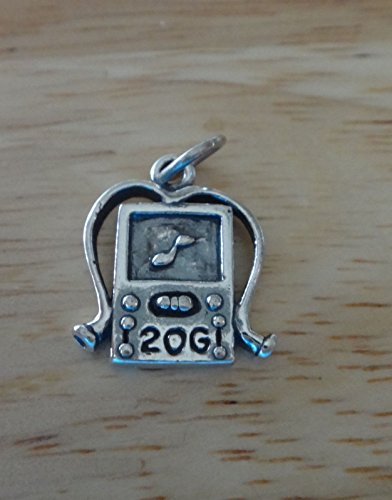 5x13mm MP3 music player with headphones says 20GB Charm Jewelry Making Supply, Pendant, Charms, Bracelet, DIY Crafting by Wholesale Charms ()