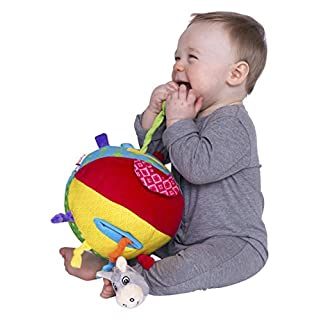 Nuby Squeak Rattle N' Roll Plush Interactive Toy