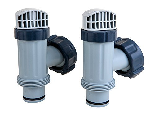 Intex Above Ground Plunger Valves with Gaskets & Nuts Replacement Part (2 Pack) Swimming Pool Filter Valves