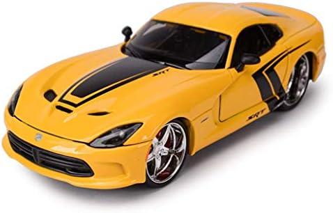 YN モデルカー スポーツカーモデルシミュレーション比1:24ダッジVスネークマッスルカーコレクションお土産装飾ギフト ミニカー (Color : BLACK)