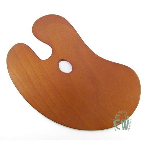 Curtisward tavolozza per artisti in legno a forma di rene. Ideale per pittura a olio e acrilica