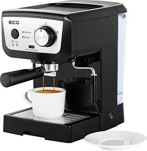 ECG ESP 20101 Black - Cafetera de palanca (plástico, 1,25 litros): Amazon.es: Hogar