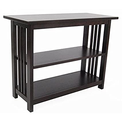 Alaterre Furniture Mission Under Window Bookshelf   Espresso