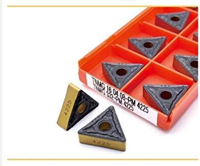 WITHOUT BRAND TNMG160404 PM 4225 TNMG160408 PM 4225 Carbide Insert-Qualitäts-Außendrehwerkzeuge Drehwerkzeuges (Farbe : TNMG160408 PM 4225, Größe : 100PCS)