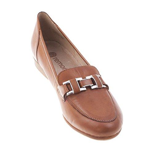 Remonte Dorndorf Women's Leather Slip on Brown Loafer (R4810-22) Brown fvTBET