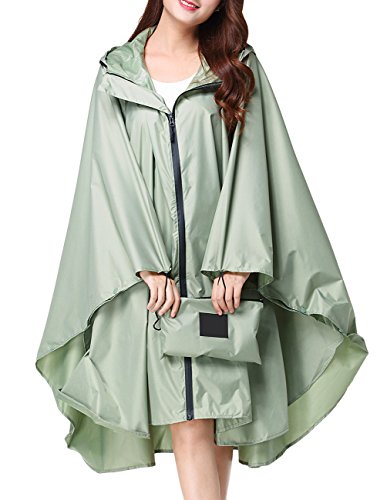 - Buauty Rain Poncho Rain-Proof Lightweight Raincoats Slicker Rainwear Outwear Emergency Raincover
