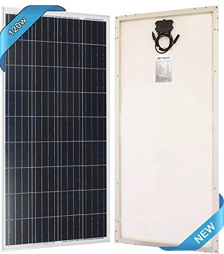 SEC 120 Watt Polycrystalline 120W 12V Solar Panel High Efficiency Poly Module RV Marine Boat Off Grid 100 watt Price (Solar Panels For Boats Best Price)