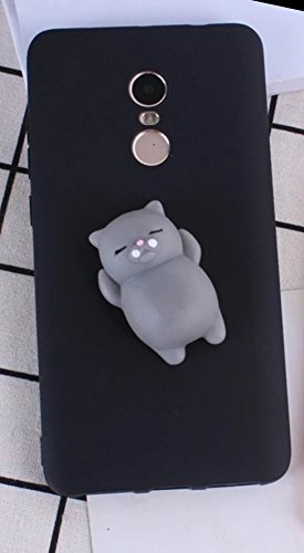 best website 9545f e4331 For Redmi Note 4 MI Note 4 | Rubber Silicone Phone Case | Squishy Toy Phone  Cover | Black Colour Back Cover | Cute Trendy Cat Phone Case