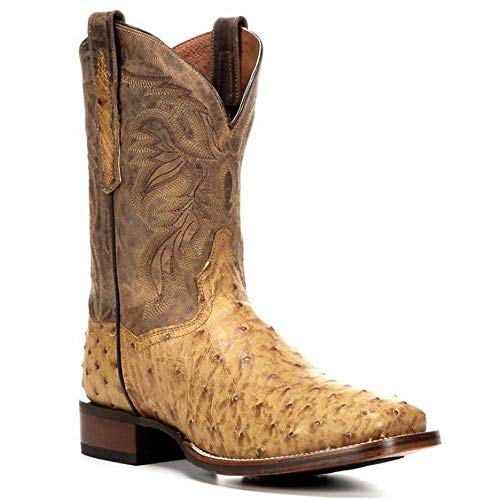 Men's Dan Post Alamosa Full Quill Cowboy Certified Boots Brown ()