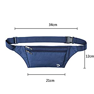 Naoki Outdoor Sports Running & Jogging & Travel Waterproof Utralthin Waist Pack / Bag Runner Belt